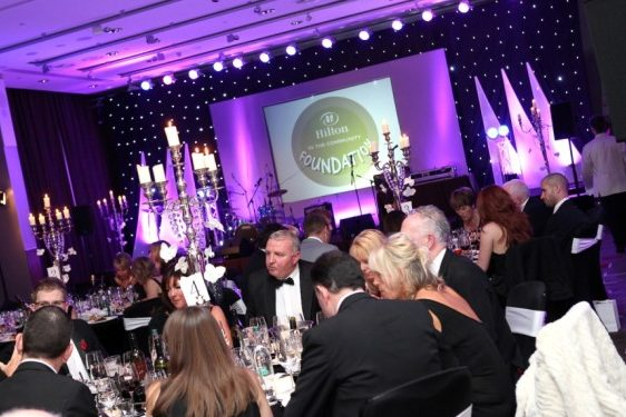 Humphries AV audiovisual equipment at a Gala Dinner