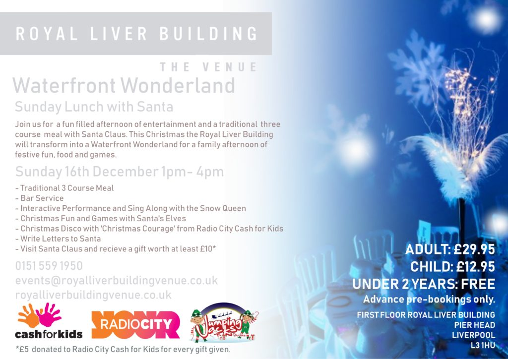 What's On Liverpool- Waterfront Wonderland event at Royal Liver Building Liverpool Venue